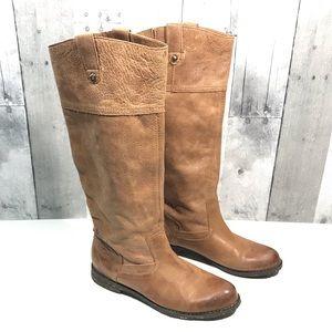 OTBT Petaluma tan leather tall pull-on boots